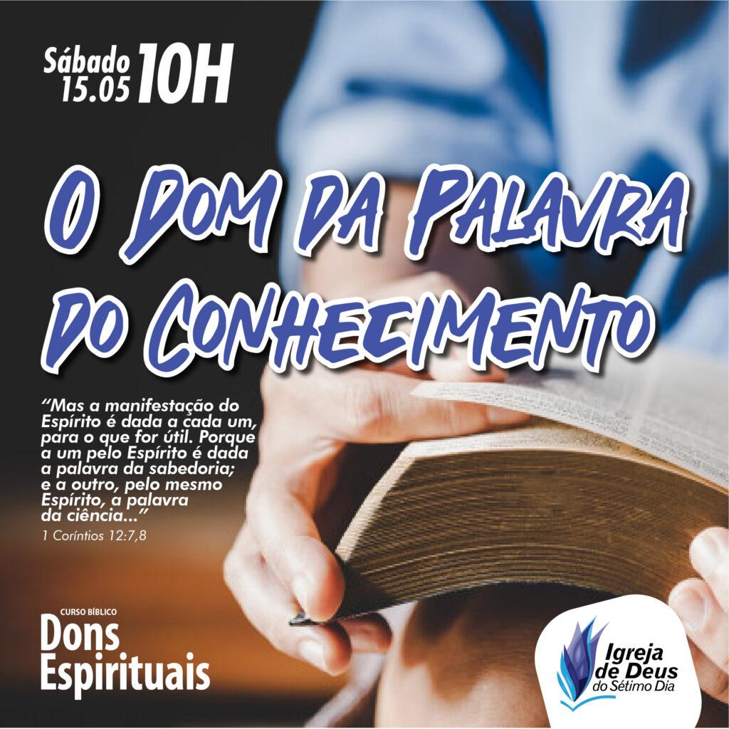 Escola Bíblica – O Dom da Palavra da Sabedoria